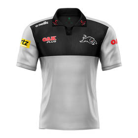 2021 Panthers Men's Grey Media Polo