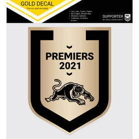 2021 Premiers Brushed Gold Sticker